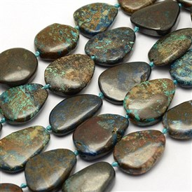 Natural Chrysocolla Beads Strands, Drop