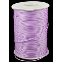 Violet Korean Waxed Polyester Cord, Bead Cord, Violet, 0.8mm; about 185yards/roll