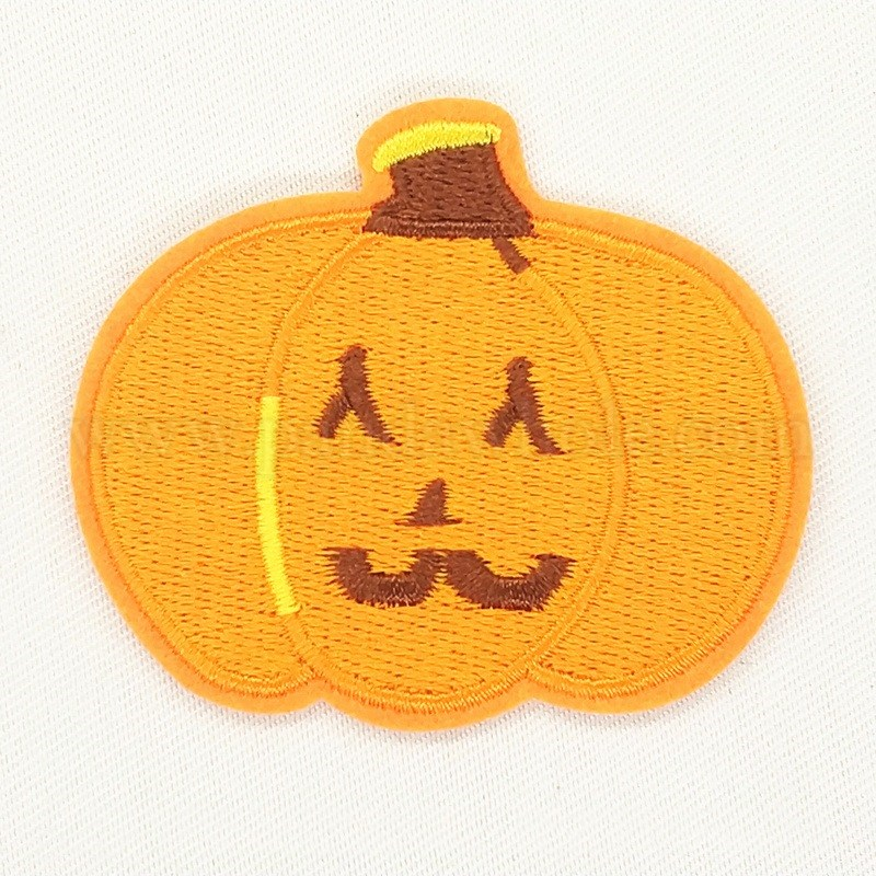 holloween computerized embroidery cloth iron on patches costume accessories appliques halloween pumpkin