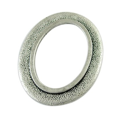 Alloy Linking Rings, Lead Free and Cadmium Free, Antique Silver Color,  Oval, about 33mm long, 27mm wide, 2 5mm thick, hole: 16x23mm