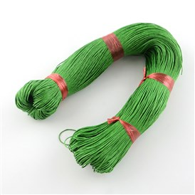 Chinese Waxed Cotton Cord, MediumSeaGreen, 1mm, about 350m/bundle