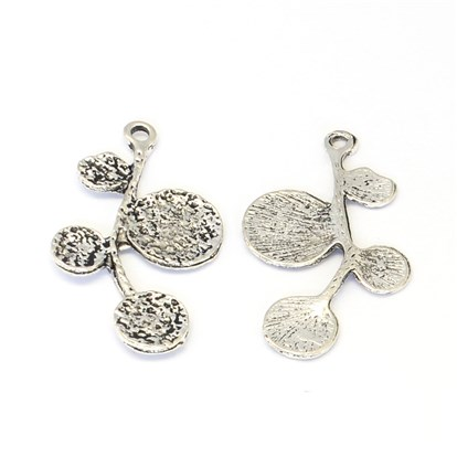 Tibetan Style Zinc Alloy Pendants, Branch and Leaves, Lead Free & Cadmium Free & Nickel Free-1