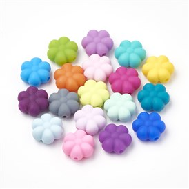 Food Grade Environmental Silicone Beads, Chewing Beads For Teethers, DIY Nursing Necklaces Making, Flower