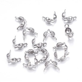 304 Stainless Steel Bead Tips Knot Covers