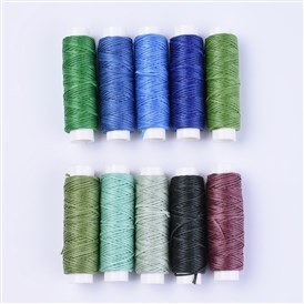 Sewing Threads, Flat Durable Strong Bounded, Polyester Leather Sewing Waxed Thread