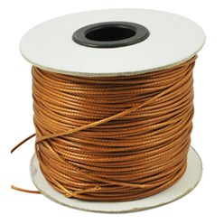 Chocolate Korean Waxed Polyester Cord, Bead Cord, Chocolate, 0.8mm; about 185yards/roll