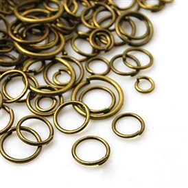 Iron Jump Rings, Close but Unsoldered, Mixed Size, 4~10mm