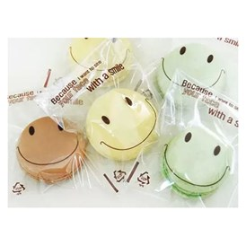 Cute Smile Plastic Bags, with Adhesive