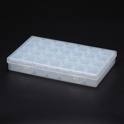 Polypropylene Plastic Bead Storage Containers, Removable, 28 Compartments, Rectangle-1