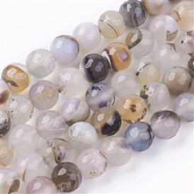 Dyed Natural Multi-Color Agate Beads Strands, Faceted Round, More Size Available