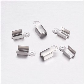 304 Stainless Steel Folding Crimp Ends