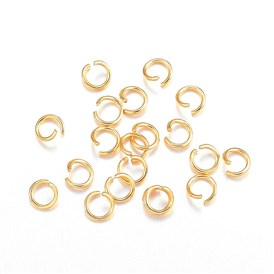 304 Stainless Steel Jump Rings, Open Jump Rings