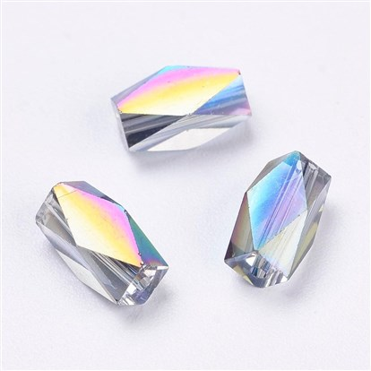 Imitation Austrian Crystal Beads, Grade AAA, Faceted, Rectangle-1