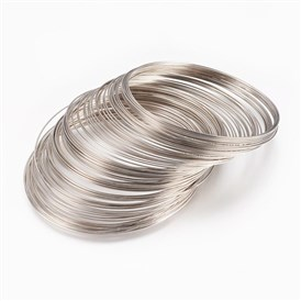 Steel Memory Wire, 55x0.6mm; 2500circles/kg