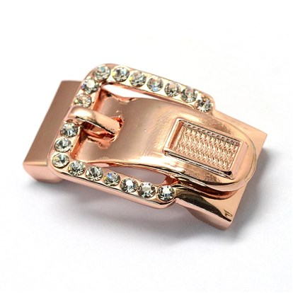 Alloy Rhinestone Magnetic Clasps, Buckle-1