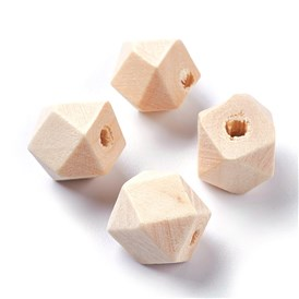 Faceted Wood Beads, Polygon