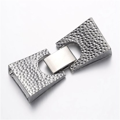 Alloy Watch Band Clasps, Rectangle, Cadmium Free & Nickel Free & Lead Free-1