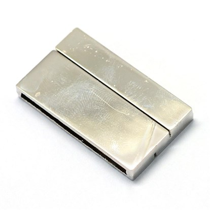 Alloy Magnetic Clasps, Rectangle-1