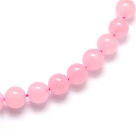 Dyed Rose Quartz Round Beads Strands