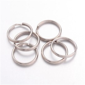 Iron Split Rings, Platinum Color