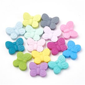 Food Grade Environmental Silicone Beads, Chewing Beads For Teethers, DIY Nursing Necklaces Making, Butterfly