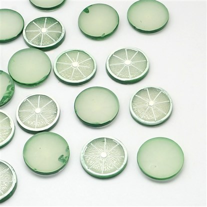 Resin Cabochons, Imitation Food, Lemon-1