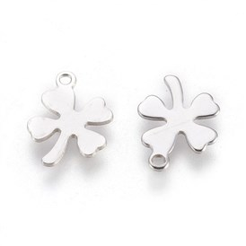 304 Stainless Steel Charms, Clover