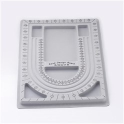 Gray Plastic Bead Design Boards, Gray, Size: about 24cm wide, 33cm long, 1cm thick