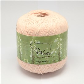 100% Cotton Sesame Yarns, 1~2mm; about 50g/roll, 8rolls/bag