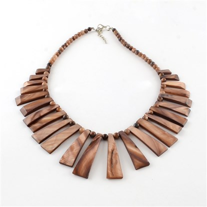 Freshwater Shell Bib Necklaces-1