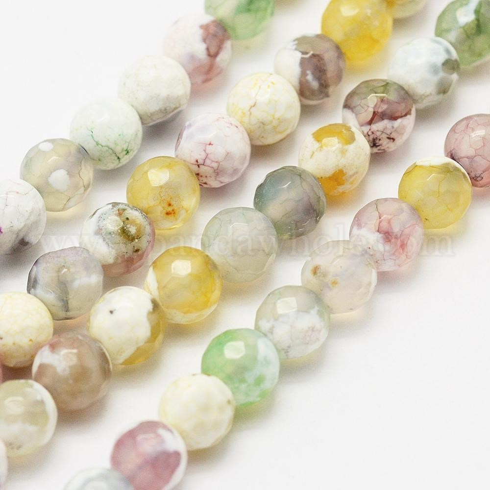 ~ BR1213 round beads 15 12 length semi precious stones wholesale beads natural beads Lot of 5 strands 8mm FIRE AGATE Beads