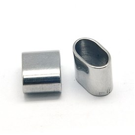 304 Stainless Steel Slide Charms, Rectangle