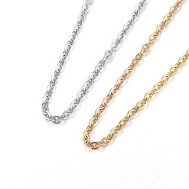 304 Stainless Steel Necklaces, Cable Chain Necklaces