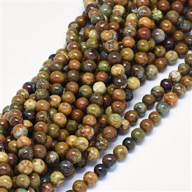 Natural Chrysocolla Beads Strands, Round