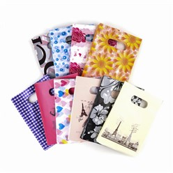 Mixed Color Printed Plastic Bags, Rectangle, Mixed Color, 30x20cm