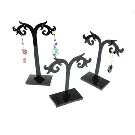 Black Earring Display Stand, Jewelry Display Rack, Jewelry Tree Stand, 80~120x80mm