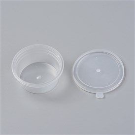 Plastic Bead Containers, Flat Round