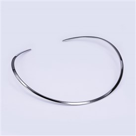 "304 Stainless Steel Choker Necklaces, 4.92""x5.51""(12.5x14cm)"
