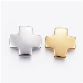 304 Stainless Steel Pendants, Greek Cross