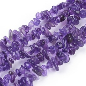 Natural Amethyst Beads Strands, Chips