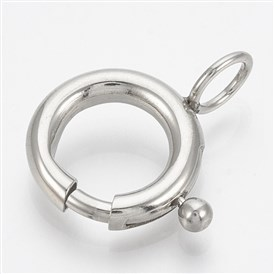 316 Stainless Steel Spring Ring Clasps, Ring