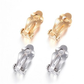 304 Stainless Steel Clip-on Earring Findings