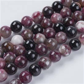 Natural Tourmaline Beads Strands, Round