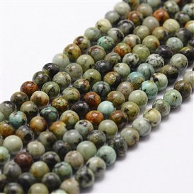 Natural African Turquoise Beads Strands, Round