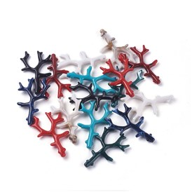 Opaque Acrylic Pendants, Coral Branch Shape
