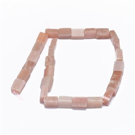 Natural Sunstone Beads Strands, Cuboid