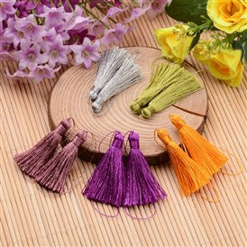 Nylon Thread Tassel Big Pendant Decorations, 43x6mm