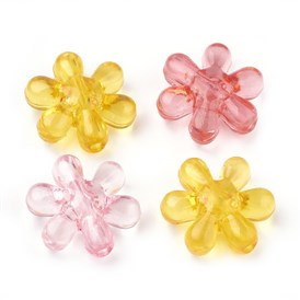 Transparent Acrylic Beads, Flower