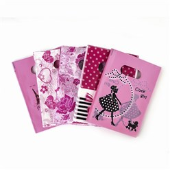 HotPink Printed Plastic Bags, Rectangle, HotPink, 18x13cm