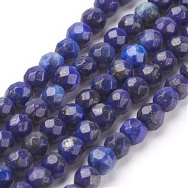 Lapis Lazuli Beads Strands, Faceted, Round